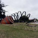 SF COGNAC - Barrique en cours de cerclage à Archiac